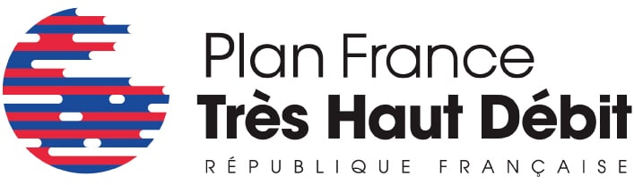Les Réseaux d'Initiative Publique fibre optique interconnectés avec La Fibre Pro Logo Plan France Très Haut Débit