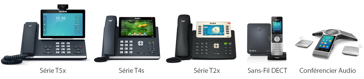 gammes téléphones fixe VoIP Centrex